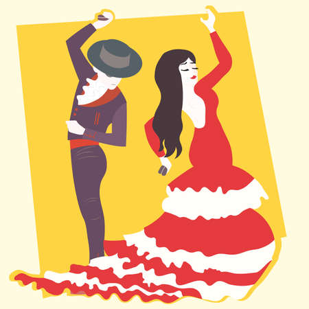 typical: typical spanish flamenco  illustration
