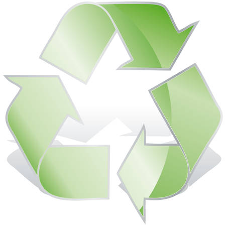 Recycle symbol 3D icon vector illustration  Vector