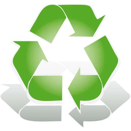 Recycle symbol 3D icon vector illustration  Vector