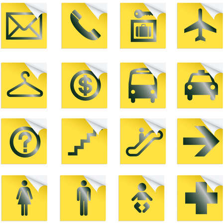 Airport and Travel Icons, Vector File pictogram Vector