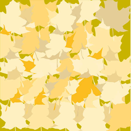 multicolored dried autumn leaves background. autumn background vector illustration Vector