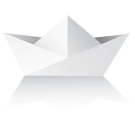 Vector An origami ship on a white background. paper ships isolated on white - vector Stock Vector - 6761788