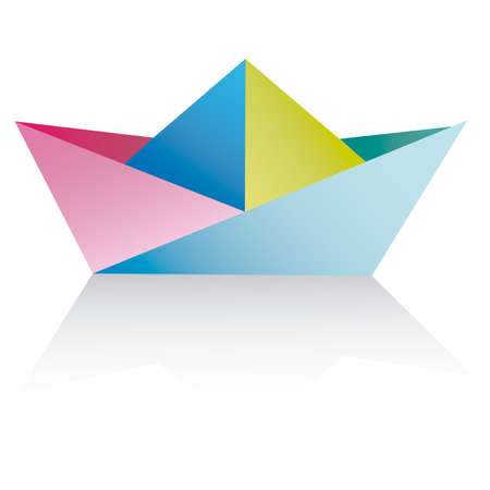 Vector An origami ship on a white background. Vector An origami ship on a white background. paper ships isolated on white - vector Stock Vector - 6761792