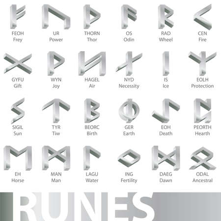 set of runes Stock Vector - 6785166