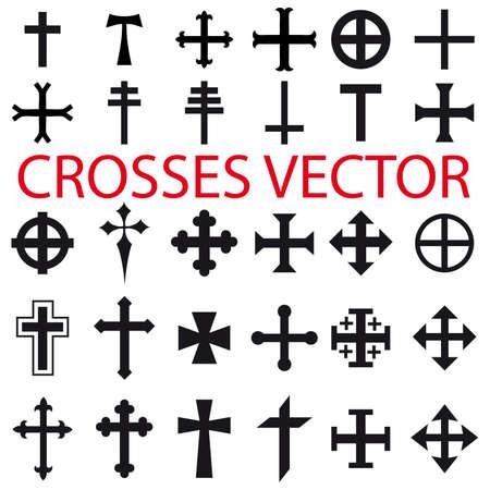 various religious symbols Vector Illustration