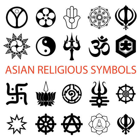 simbolos religiosos: varios s�mbolos religiosos  Vectores