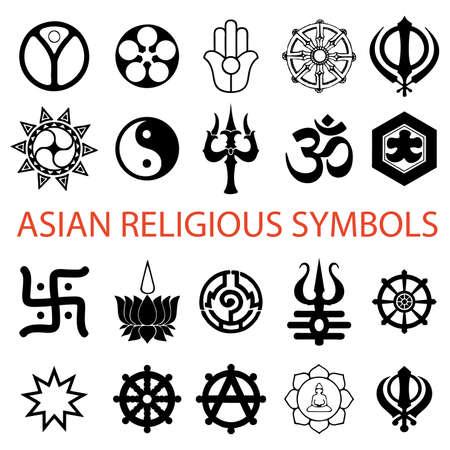 bahai: various religious symbols