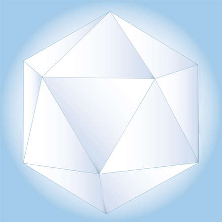 polyhedral: Polyhedral figure of a star with gradient