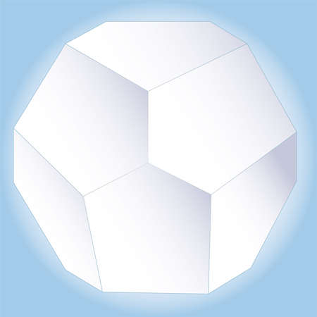 polyhedral: Polyhedral figure of a star with gradient Illustration
