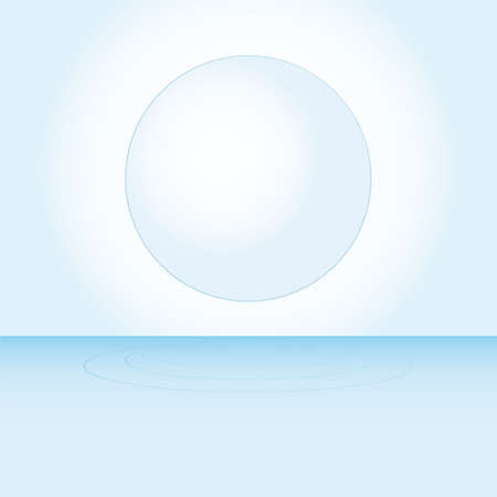 wetness: blue water with bubbles  illustration