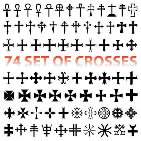 Set Crosses . vaus religious symbols  Stock Vector - 6854657
