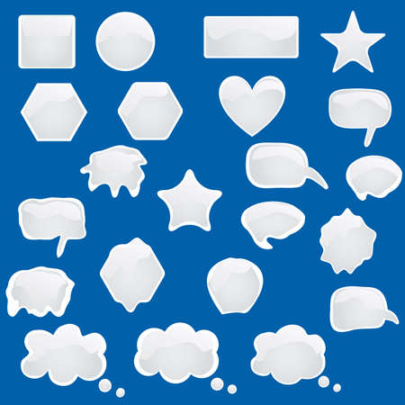 Set of bubbles icons symbols talk glossy speech thought  Vector