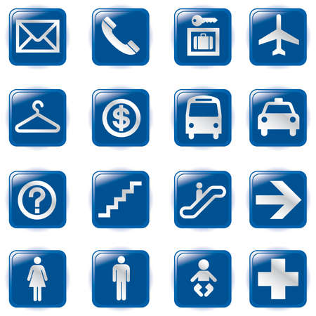 Airport and Travel Icons,  File pictogram