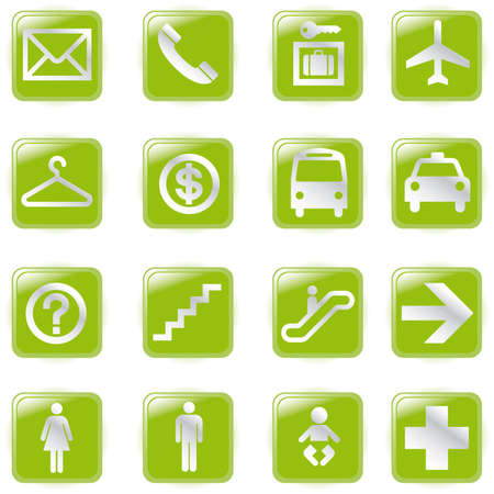 Airport and Travel Icons,  File pictogram  Vector