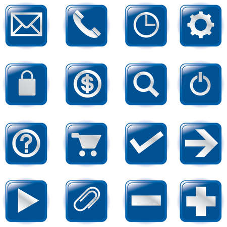 blue button: Web Icons,  File pictogram  Illustration