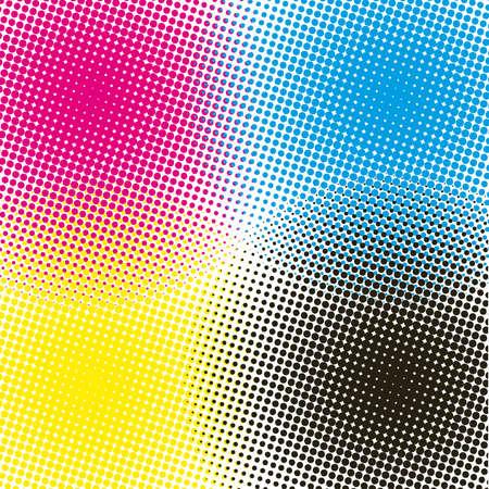 exploded: halftone CMYK  illustration background