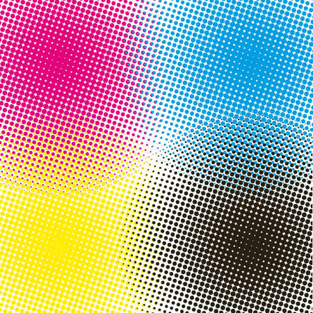printer: halftone CMYK  illustration background