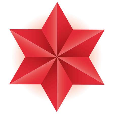 tetrahedron: Star Op art  illustration abstract