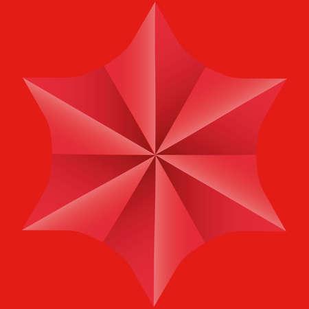 tetrahedron: Background Star Op art  illustration abstract  Illustration