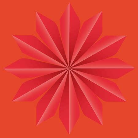 tetraedro: Sfondo stella Op arte astratta di illustrazione