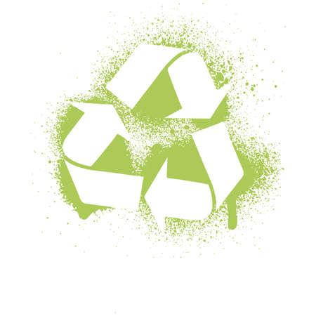 conciencia ambiental: Ilustraci�n de una tinta Gore reciclar el elemento de dise�o de s�mbolo.