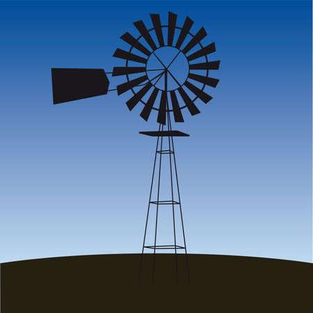 ecology concept: wind-driven generators illustration  Vector