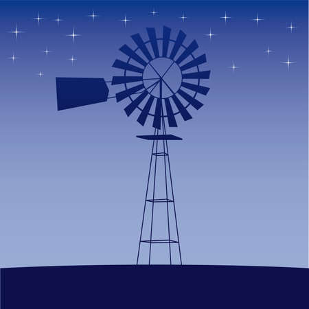 generators: ecology concept: wind-driven generators  illustration  Illustration