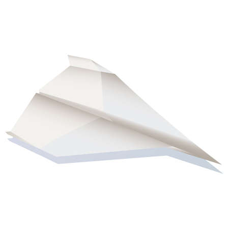 Paper plane  illustration cartoon  Vector