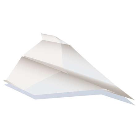 postmodern: Paper plane  illustration cartoon  Illustration