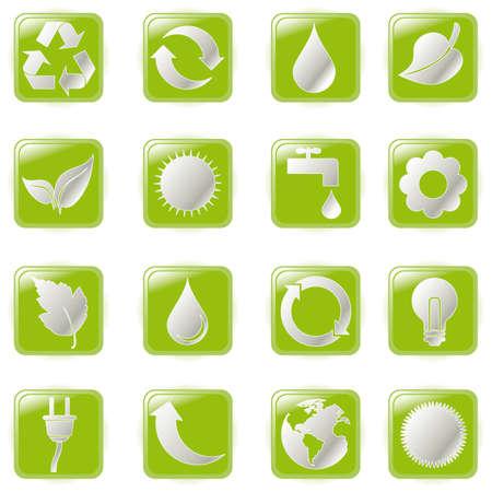illustration green environmental bubbles on white Stock Vector - 6869382