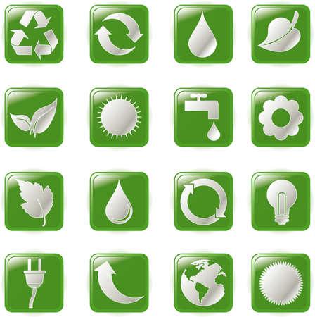 illustration green environmental bubbles on white Stock Vector - 6869381