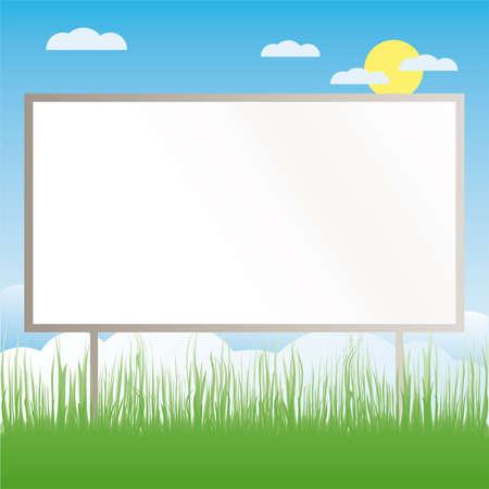 blank chalkboard: Billboard at the field illustration cartoon