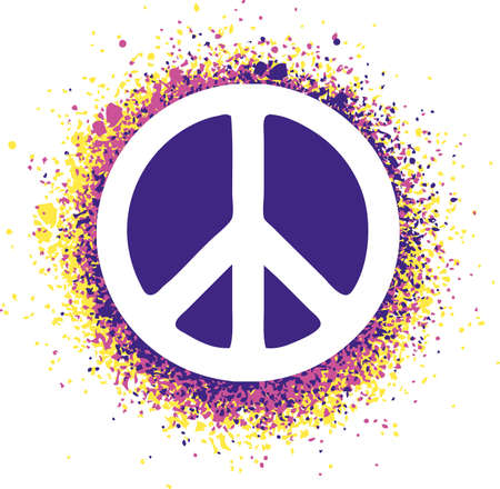 Peace sign isolated on a background illustration Illustration