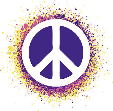 simbolo de la paz: Signo de paz aislado en una ilustraci�n de fondo