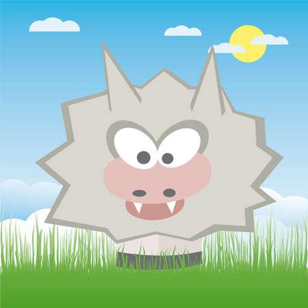 disfrazados: Caricatura de ilustraci�n de lobo  Vectores