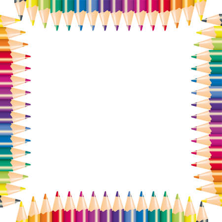 Color pencils,  illustration  Stock Vector - 6919102