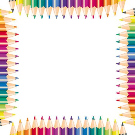 Color pencils,  illustration  Vector