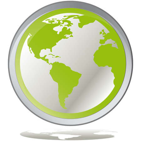 illustration green environmental bubbles on white Stock Vector - 6919099