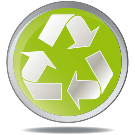 recycling plant:  illustration green environmental bubbles on white Illustration