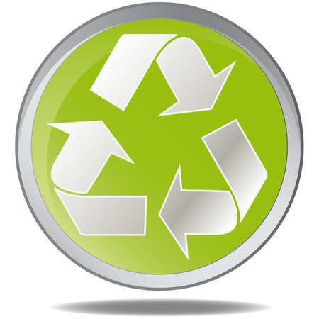 illustration green environmental bubbles on white Vector