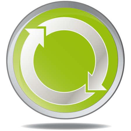 illustration green environmental bubbles on white Stock Vector - 6919096