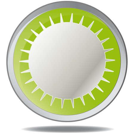 illustration green environmental bubbles on white Stock Vector - 6919097