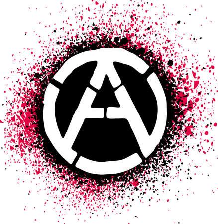 anarchy: Anarchy symbol icon  illustration Illustration