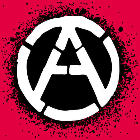 anarchist: Anarchy symbol icon illustration
