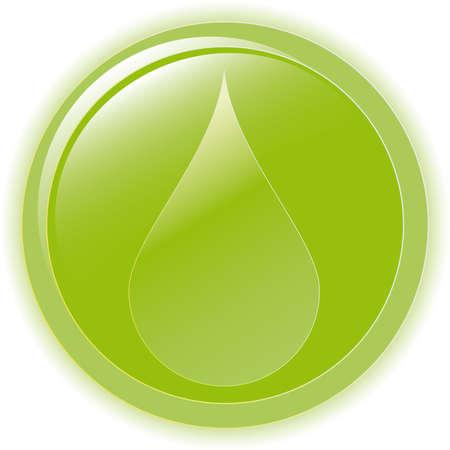 illustration green environmental bubble on white Stock Vector - 6977764