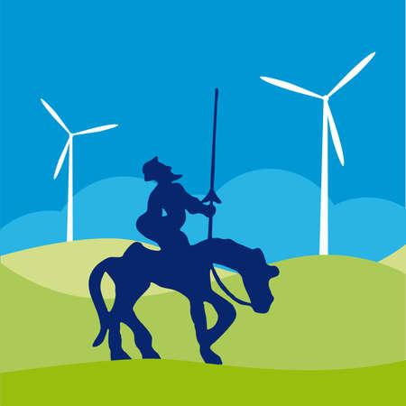 don quixote: Don Quijote silueta de dibujos animados de ilustraci�n  Vectores