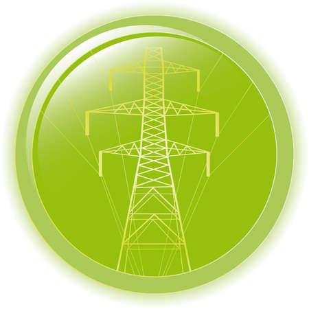 silueta de alta tensión eléctrica