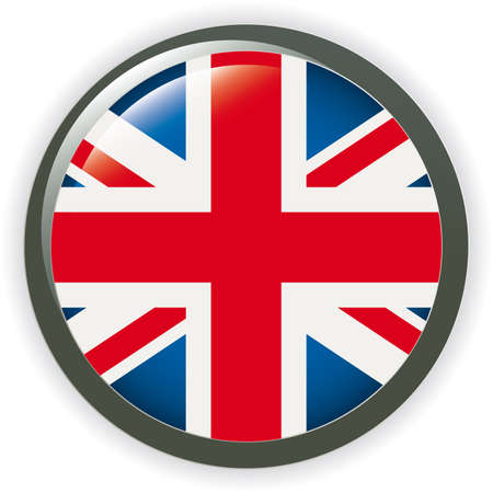 Orb UK Flag  button illustration 3D Vector