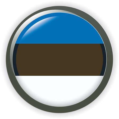 Orb LETONIA Flag button illustration 3D Vector