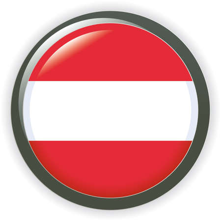 Orb AUSTRIA Flag button illustration 3D